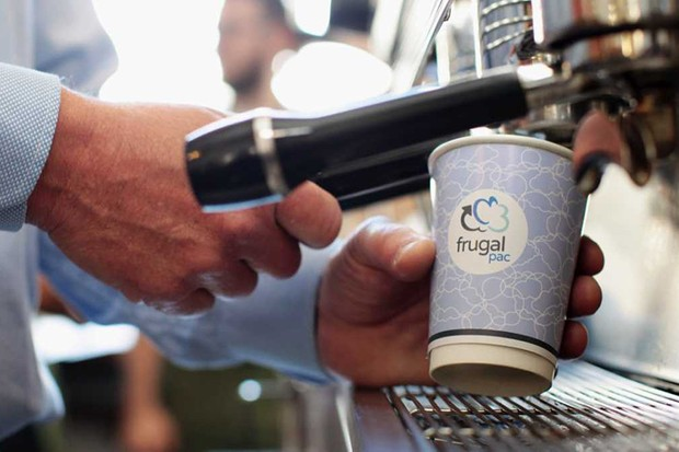 Frugalpac coffee cup: the new weapon in the war on waste © Frugalpac