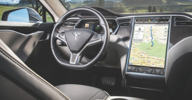 The Model S is packed full of innovative tech (image: Newspress)