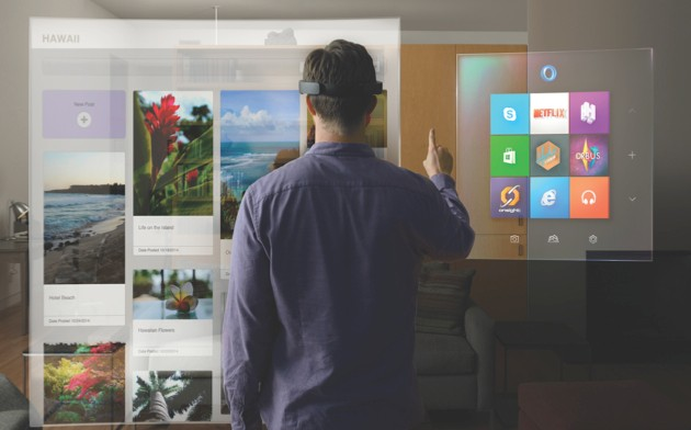The HoloLens could transform the way we interact with our computers © Mirosoft