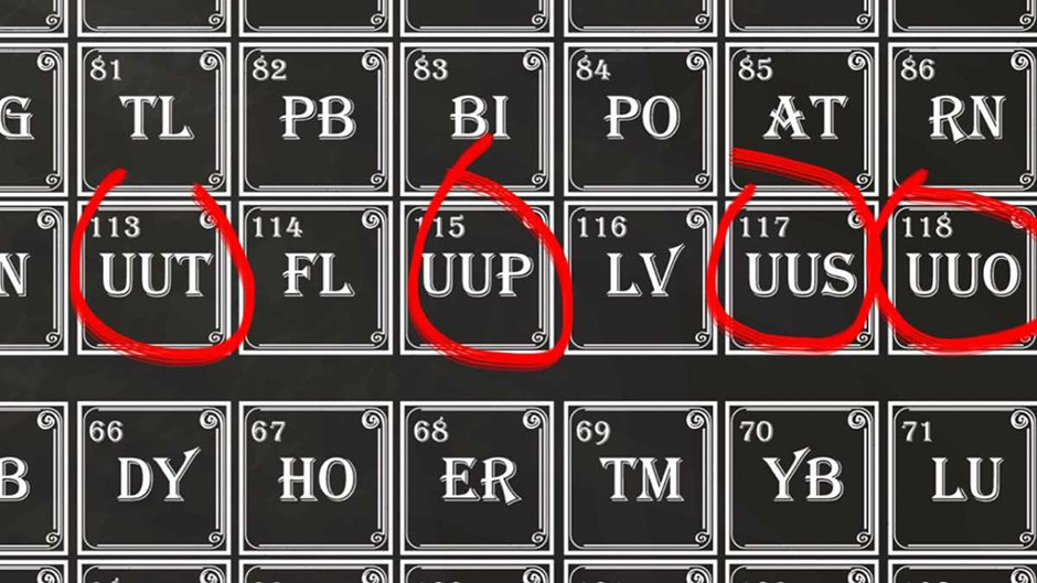 Four newest elements named © Getty Images
