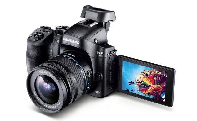 The NX30's flippable display will help you master the art of the selfie
