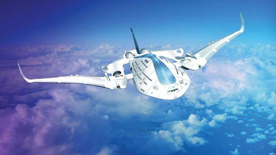 The triple-decker Sky Whale would have a wingspan of 88m © Oscar Vinals