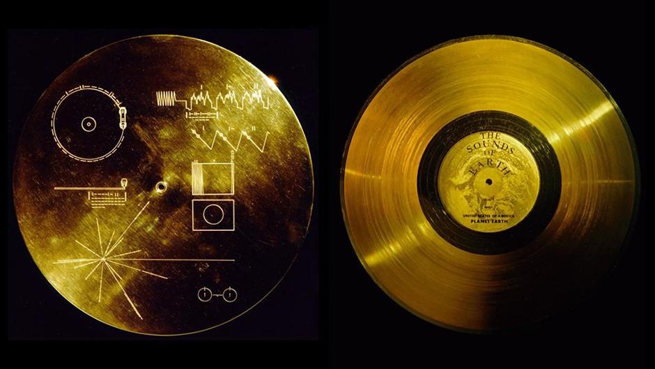 The Voyager Golden Record © NASA/JPL, via Wikimedia Commons