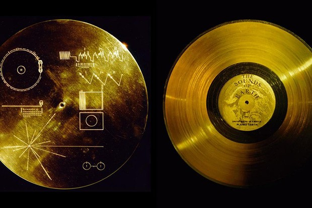 The Voyager Golden Record © NASA/JPL, via Wikimedia Commons