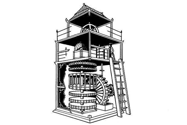 The Chinese engineer Su Song's hydro-mechanical clock tower