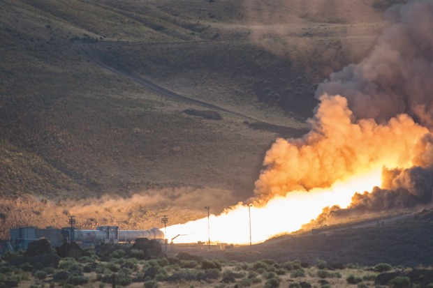 Lighting up the Utah scenery while testing the boosters on NASA's Space Launch System, which will be used to launch Gateway into space © NASA/Bill Ingalls