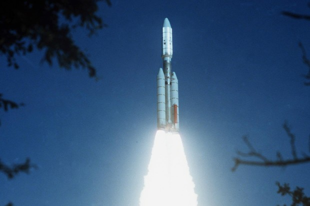 Voyager 2 launches from Cape Canaveral in Florida © NASA