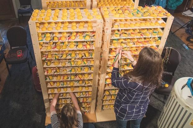 The world's largest lemon battery © Paul Wilkinson Photography Ltd.