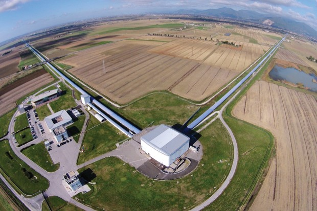 The Virgo Observatory, located near Pisa, Italy, detected a transient gravitational-wave signal produced by the coalescence of two stellar black holes © The Virgo collaboration/CCO 1.0