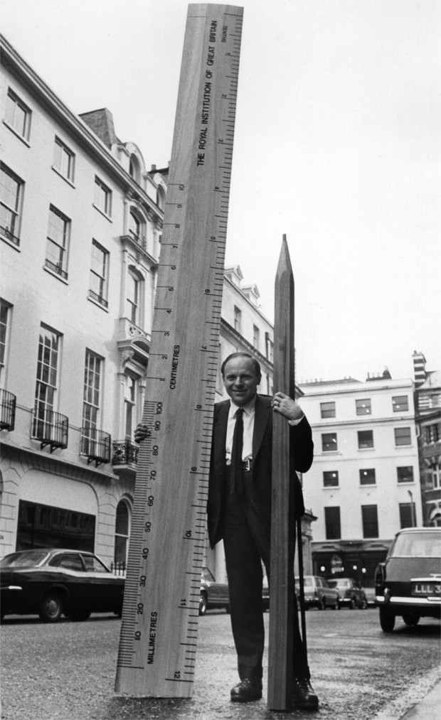 Philip Morrison's giant pencil © Getty Images