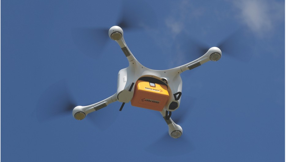 Drone traffic control - rewriting the rules of flying UAVs (An M2 delivery drone carries lab samples between hospitals during a trial flight in Bern, Switzerland © Getty Images)