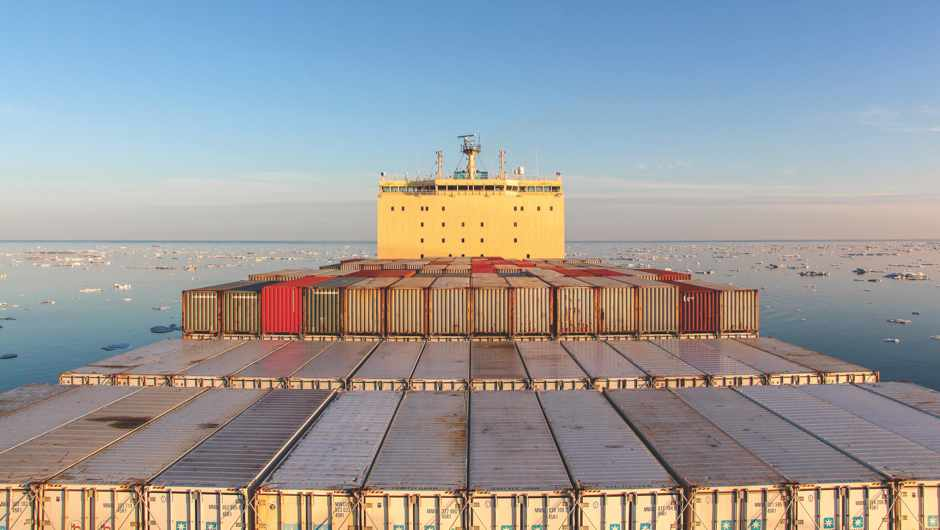 The Venta Mearsk became the first commercial container ship to successfully navigate the Northern Sea Route © Mearsk