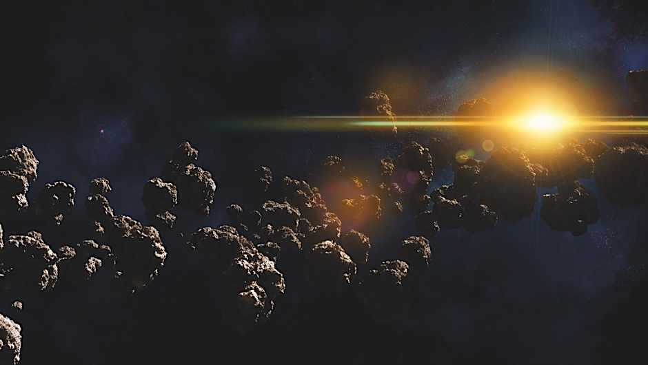 If all the asteroids in the asteroid belt had coalesced to form a planet, what size would it have been?