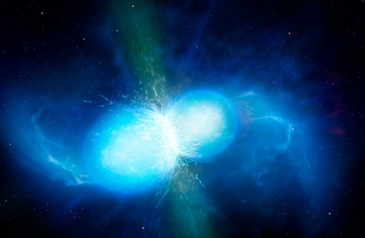 Artist's impression of merging neutron stars © Getty Images