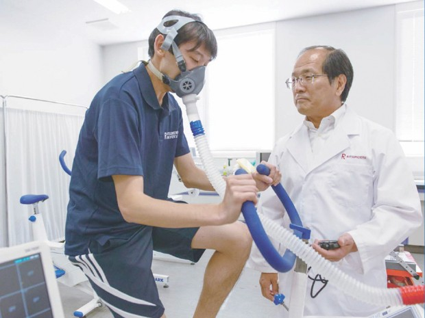 Dr Izumi Tabata (in the lab coat) has lent his name to a HIIT protocol that produces greater improvements in fitness than longer bouts of moderate exercise