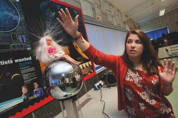The gender of a science teacher is less important than the encouragement they give their students © Alamy