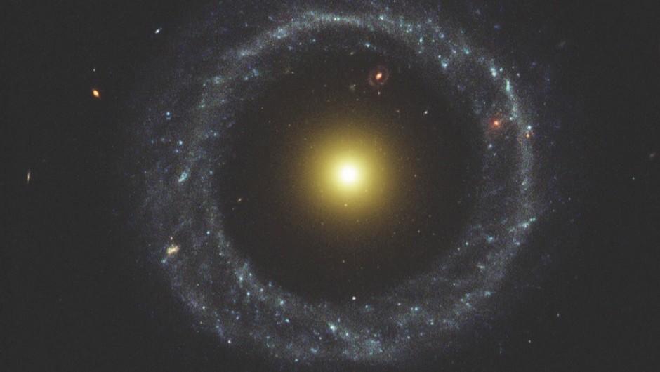 Nobody has any idea how this doughnut-like galaxy formed © NASA/Hubble Space Telescope
