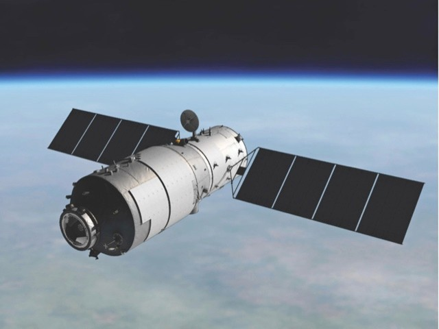 Tiangong-1, China's first space station, orbited the Earth between 2011 and 2018 © China Manned Space Engineering Office