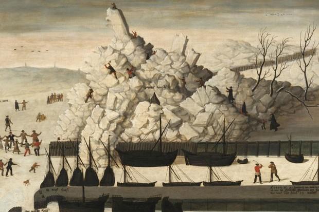 Iceberg on the pier of Delfshaven, 1565. © Alamy