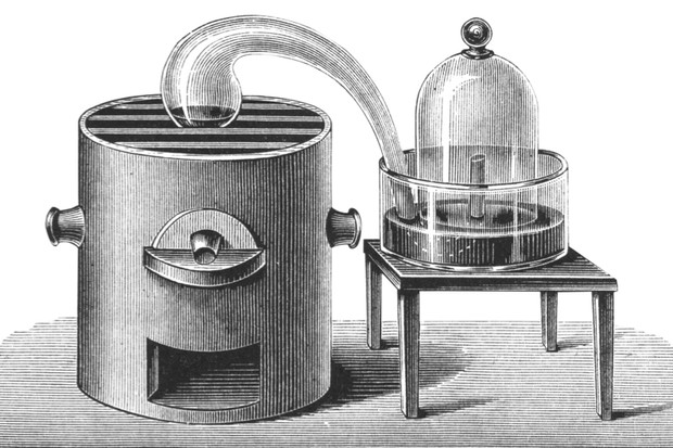 The apparatus used by Joseph Priestley to isolate oxygen © Getty Images