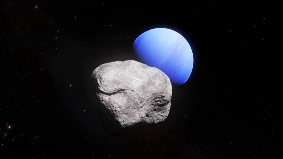 The violent past of Neptune's newest moon © ESA/Hubble, NASA, L. Calçada