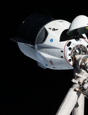 The uncrewed SpaceX Crew Dragon spacecraft is the first Commercial Crew vehicle to visit the International Space Station. © NASA