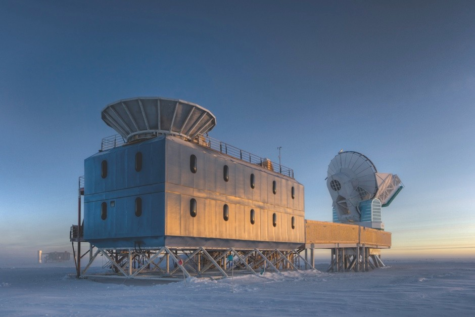 The BICEP2 experiment, currently underway in the Antarctic, is looking for signs of inflation in the cosmic background radiation © Steffen Richter/Harvard University