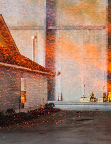 Wildfire simulator, South Carolina © Insurance Institute for Business and Home Safety