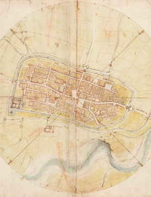 A map of Imola, 1502 (Royal Collection Trust / © Her Majesty Queen Elizabeth II 2019)