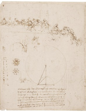 Sketches for the Last Supper, and other studies, c.1492-4 (Royal Collection Trust / © Her Majesty Queen Elizabeth II 2019)