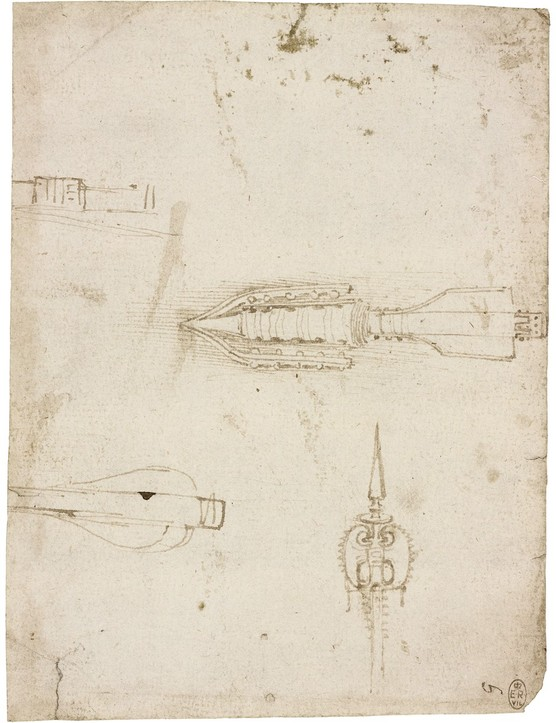 Designs for weapons, c.1485 (Royal Collection Trust / © Her Majesty Queen Elizabeth II 2019)