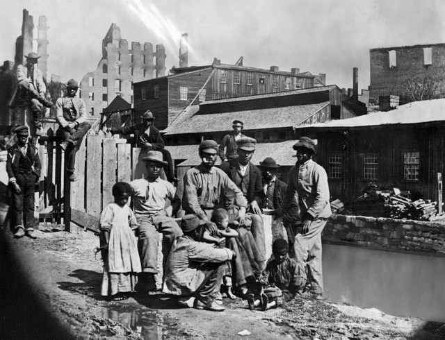 Freed black Americans following the US Civil War © Getty Images