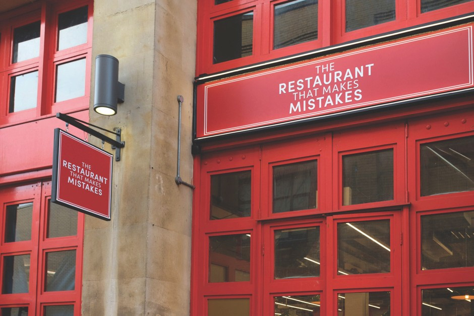 Sadly, The Restaurant That Makes Mistakes isn't a permanent venture: it was housed for a month in a restaurant called The Kitchen, located in a disused fire station © Channel 4