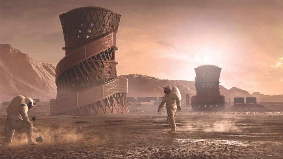 NASA's Martian habitat contest final stage winners announced © Team SEArch+/Apis Cor
