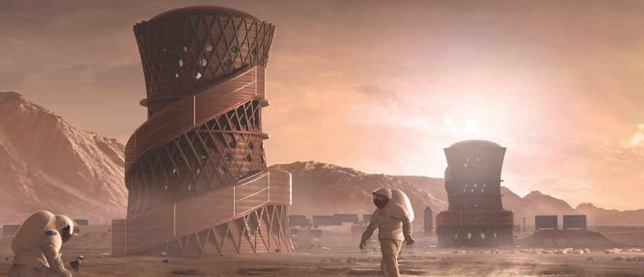 NASA's Martian habitat contest final stage winners announced © Team SEArch+/Apis Cor