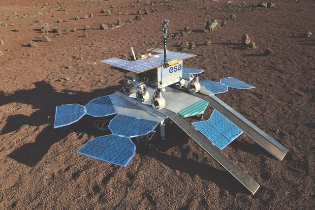 The European Space Agency's Mars rover undergoing tests © ESA
