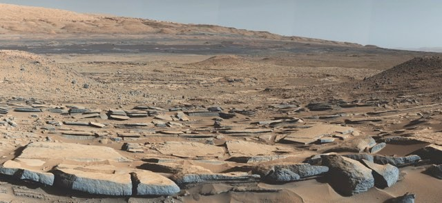 The Mars Curiosity rover detected methane at Gale Crater, as photographed here © NASA