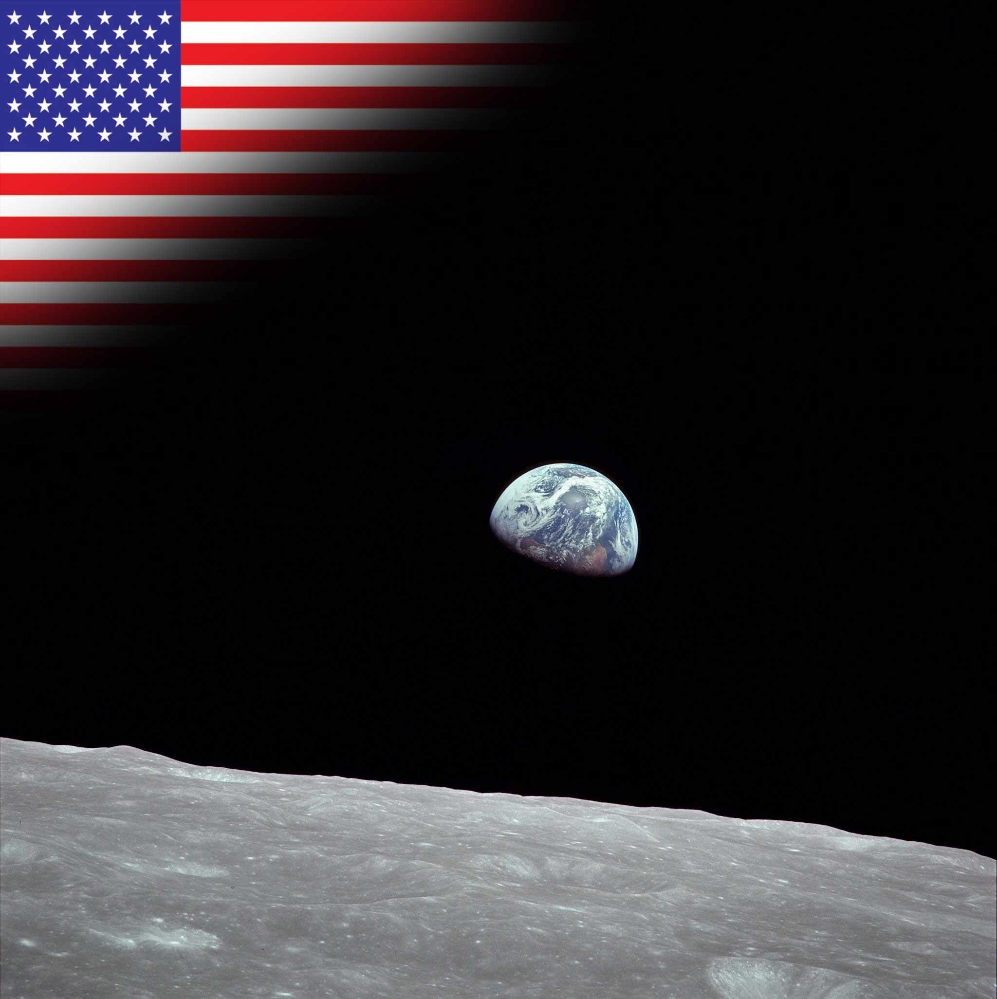 Apollo 8 sends humans around the Moon for the first time. (Earthrise, taken on 24 December 1968, by Apollo 8 astronaut William Anders)