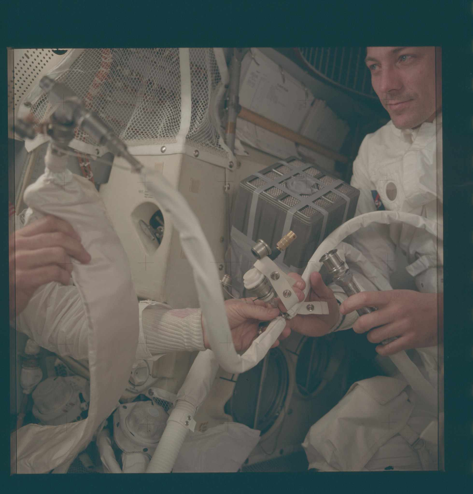 AS13-62-9004 Apollo 13 Hasselblad image from film magazine 62/JJ - Onboard