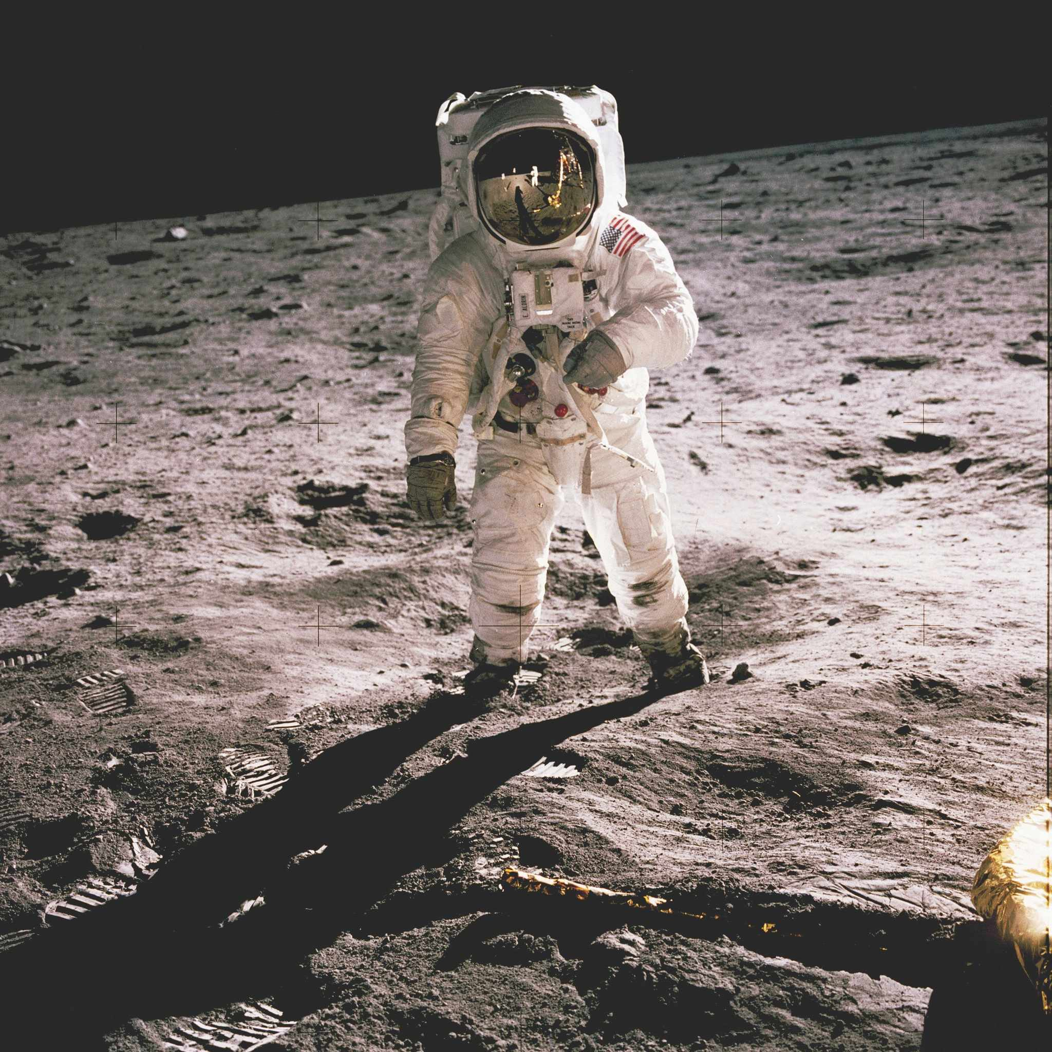 Aldrin photographed by Armstrong during their moonwalk © NASA/JSC