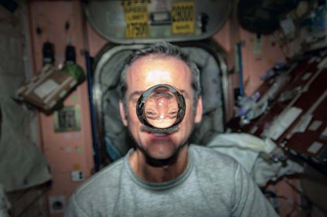 Chris Hadfield spent six months aboard the International Space Station, from December 2012 to May 2013 © NASA