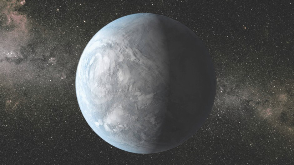 Super-Earths like Kepler 62e are a common type of exoplanet, with thick and misty atmospheres © NASA