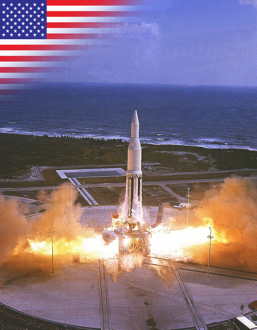 Saturn I rocket launch marks the start of the Apollo programme. © NASA