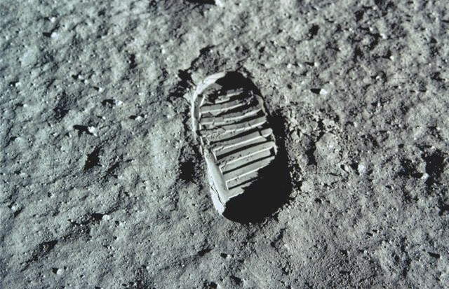 The Moon's lack of atmosphere means impressions left by the Apollo astronauts in the lunar surface are likely to still be intact today © NASA