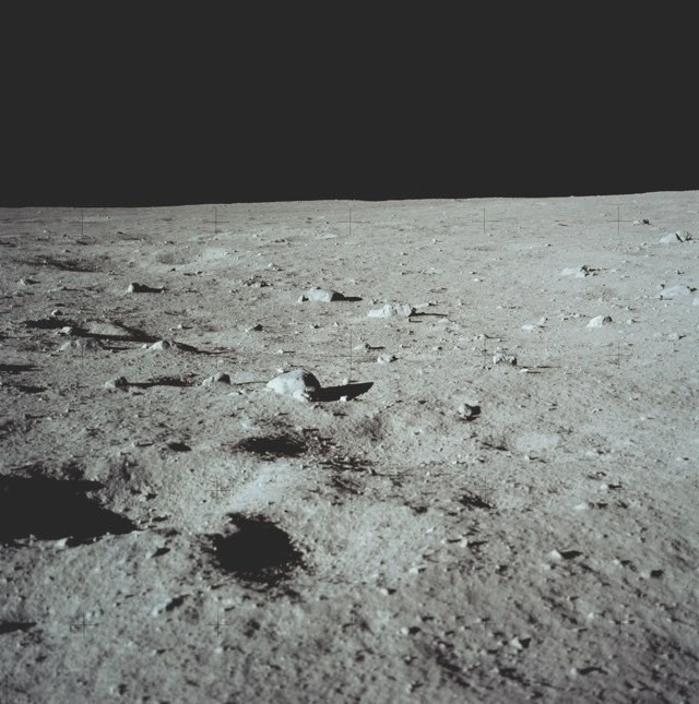 The samples were collected from rocky areas surrounding the Apollo 11 landing site © NASA/JSC