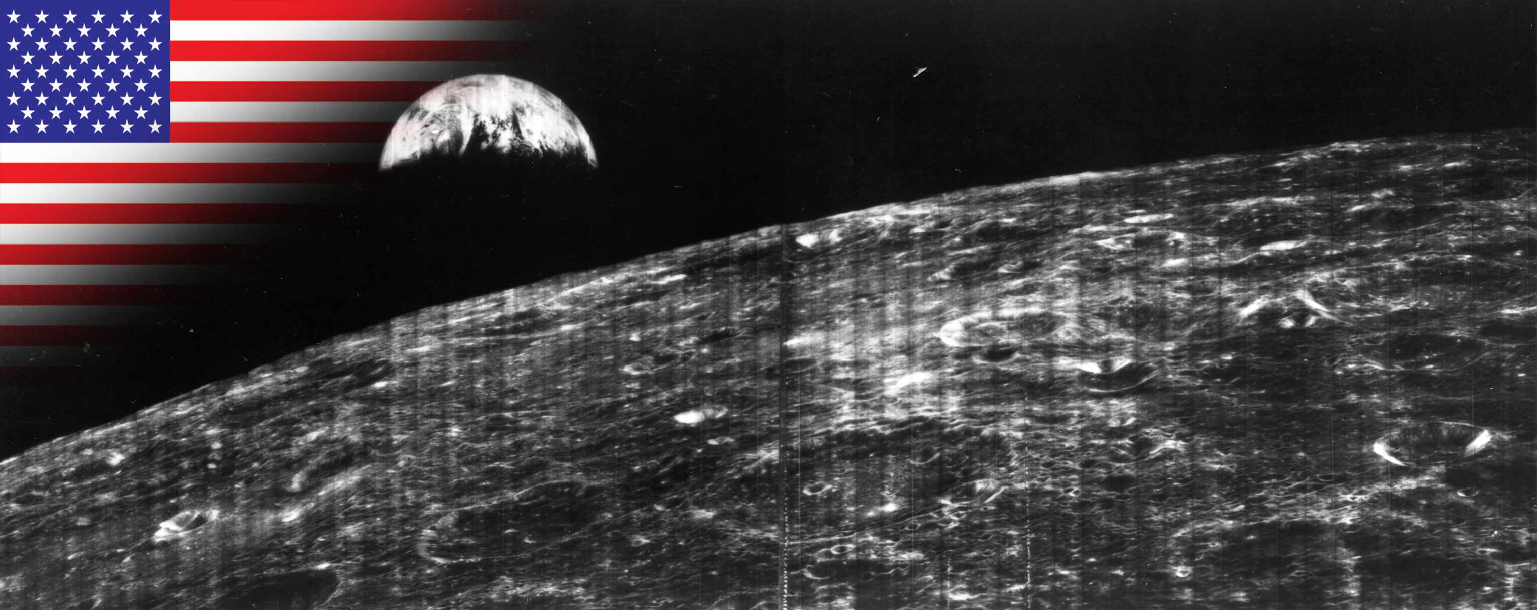 Lunar Orbiter 1 launched to take images of the Moon. © NASA