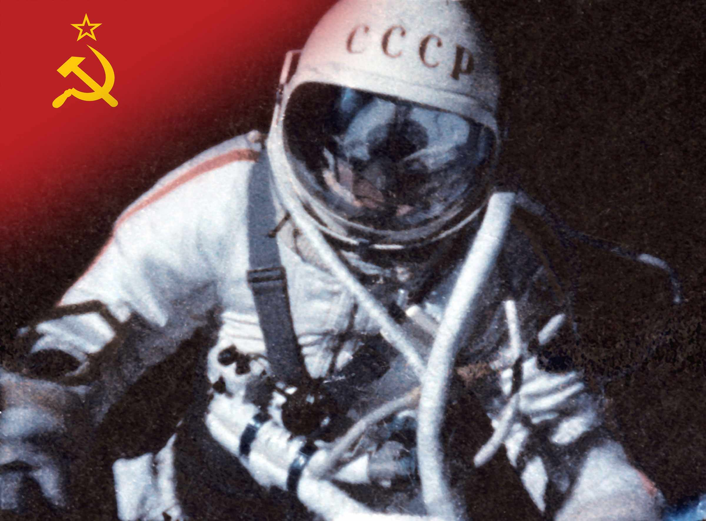 Alexei Leonov makes the first spacewalk on Voskhod 2. © Sovfoto/Universal Images Group via Getty Images