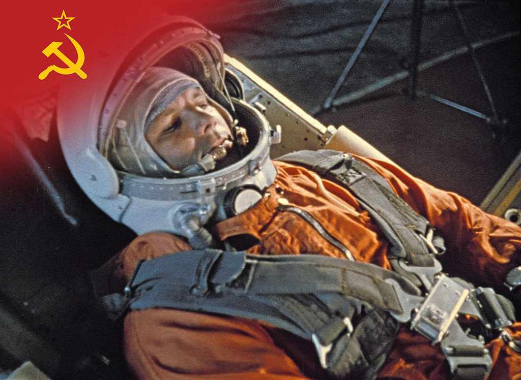 Yuri Gagarin becomes the first man in space aboard Vostok 1. © Sovfoto/Universal Images Group via Getty Images