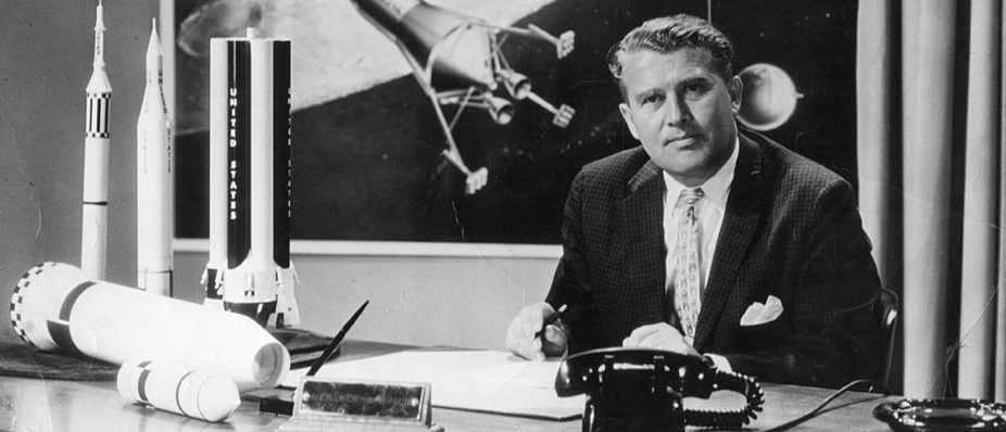 Wernher von Braun: Director of the Marshall Space Flight Center/Saturn V Chief Architect © Evening Standard/Getty Images