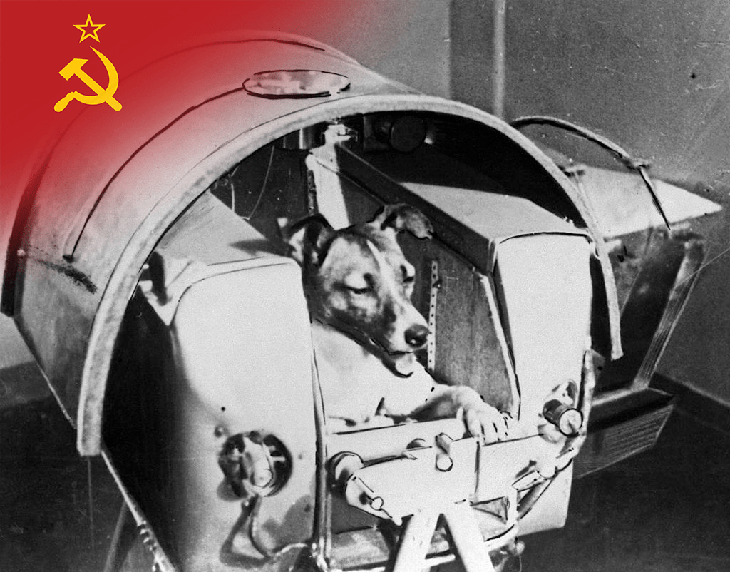 Sputnik 2 launches into space carrying Laika the dog. © Getty Images